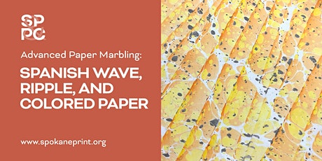 Advanced Paper Marbling: Spanish Wave, Ripple, and Colored Paper tickets