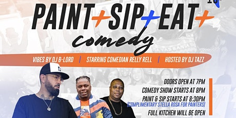 PAINT + SIP + EAT + COMEDY!  (Columbia SC) tickets