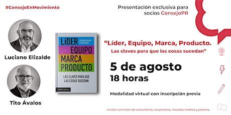 """Presentación de  libro """"Líder Equipo Marca Producto"""" entradas"""