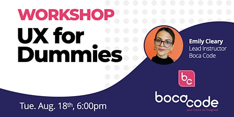 UX For Dummies tickets