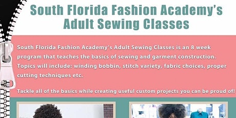 South Florida Fashion Academy Adult Sewing Class tickets
