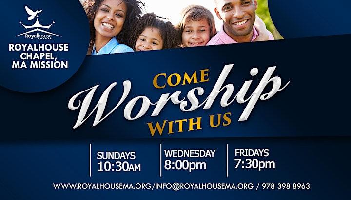 Sunday Celebration Service, Royalhouse Chapel- MASSACHUSETTS image
