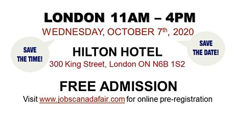 London Job Fair - Wednesday, October 7th 2020 (11am-4pm) tickets