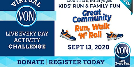 2020 VON Great Community Run, Walk 'N' Roll tickets