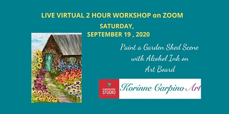 Paint a Garden Shed Scene in Alcohol Inks on Art Board tickets