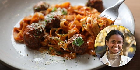 Virtual Budget Cooking: Eggplant Meatballs with Pasta tickets