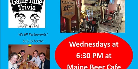 Game Time Trivia at the Maine Beer Cafe in Kittery Maine tickets
