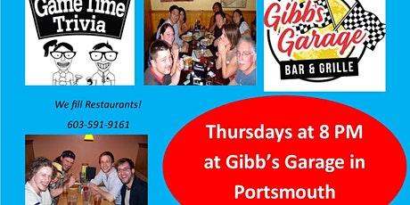 Game Time Trivia at Gibb's Garage in Portsmouth NH tickets
