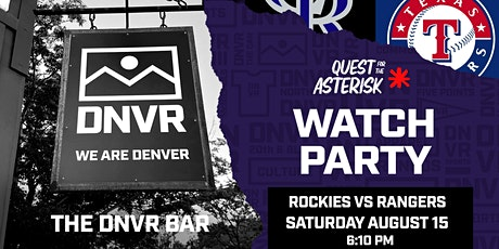 Rockies vs Rangers Watch Party tickets