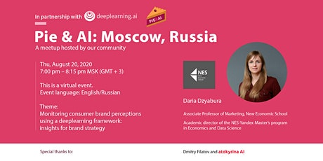 Pie & AI: Moscow - Monitor consumer brand perceptions with a DL framework tickets