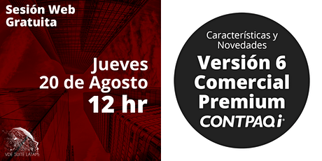 CONTPAQi® Comercial Premium Versión  6 ingressos