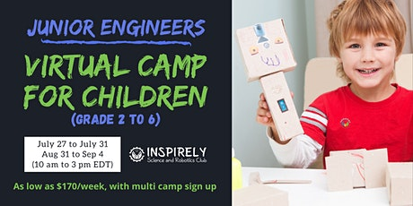 For children age 6 to 12 years: Virtual Summer Camp -Junior Engineers tickets
