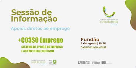 SESSÃO DE INFORMAÇÃO FUNDÃO | +CO3SO EMPREGO bilhetes