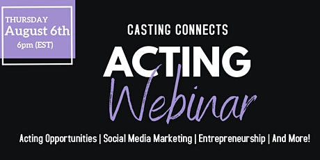 Casting Connect Acting Webinar tickets
