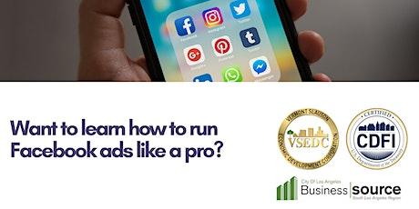 Webinar-Run Facebook Ads Like a Pro tickets