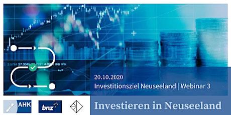 Investitionsziel Neuseeland   Investieren in Neuseeland   Webinar 3 Tickets