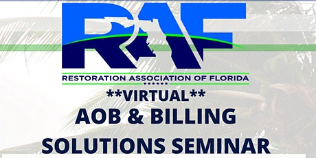 RAF VIRTUAL AOB & BILLING SOLUTIONS SEMINAR tickets