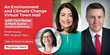 Environment & Climate Change Virtual Town Hall - Terri Butler & Mark Butler tickets