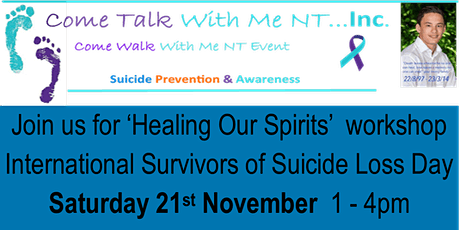 Healing Our Spirits - International Survivors of Suicide Loss Day tickets