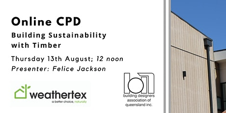 Online CPD: Building Sustainability with Timber tickets