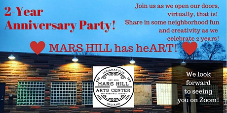 Mars Hill Arts Center 2-Year Anniversary Virtual Party tickets