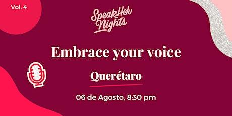 Embrace your voice entradas