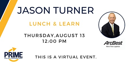 Prime Lunch & Learn with Jason Turner tickets