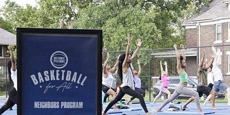 Yoga on the Pistons Court at PINGREE PARK tickets