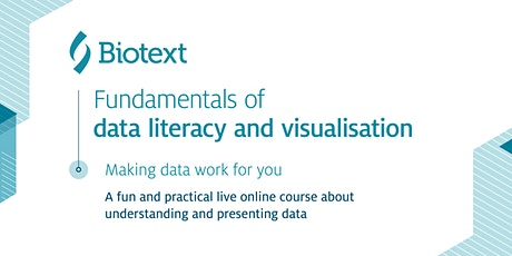 Fundamentals of data literacy and visualisation tickets