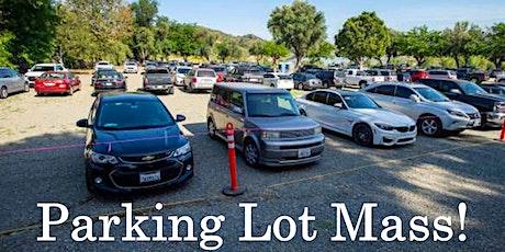 Parish Center Parking Lot Mass tickets