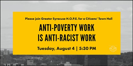 Citizens' Town Hall : Anti-Poverty Work is Anti-Racist Work tickets
