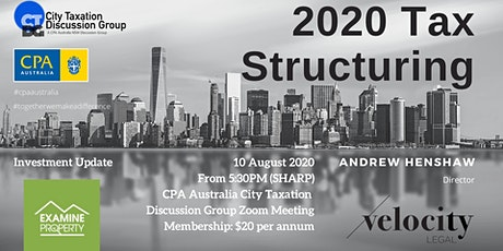 CTDG August 2020 - 2020 Tax Structuring tickets