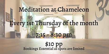 Meditation at Chameleon tickets