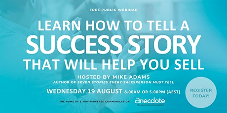 Learn how to tell a success story that will help you sell tickets