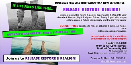 Release Rejuvenate Realign - an experiential workshop tickets
