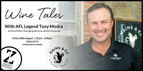 Wine Tales Tony Modra and Zonte's Footstep tickets