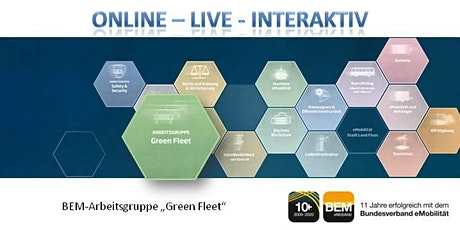 """ONLINE-BEM-Arbeitsgruppe """"Green Fleet"""" September 2020 Tickets"""
