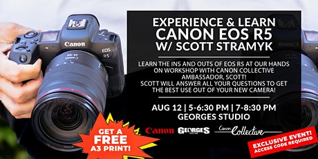 Canon EOS R5 | Try, Experience & Learn w/ Canon Collective, Scott Stamyk tickets