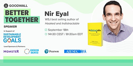 Live Q&A With Nir Eyal (bestselling author of Hooked & Indistractable) tickets