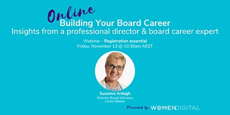 Building Your Board Career with Suzanne Ardagh tickets