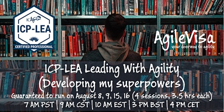 ICAgile Leading With Agility (ICP-LEA) Global Online Class tickets