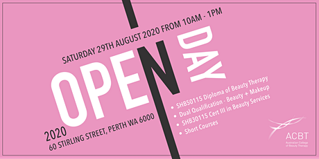 Copy of Australian College of Beauty Therapy OPEN DAY AUGUST 2020 tickets