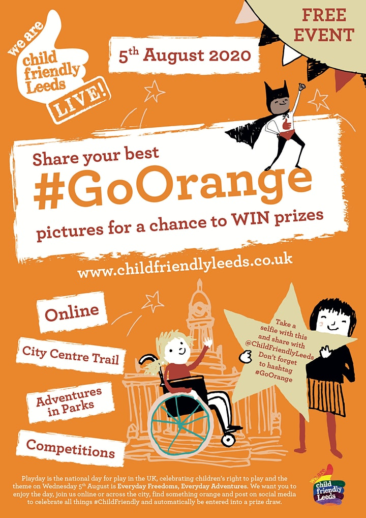 Child Friendly Leeds Live 2020 | #GoOrange image