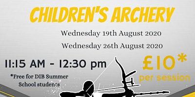 DIB Children's Archery 19/08/20