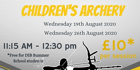 DIB Children's Archery 19/08/20 tickets