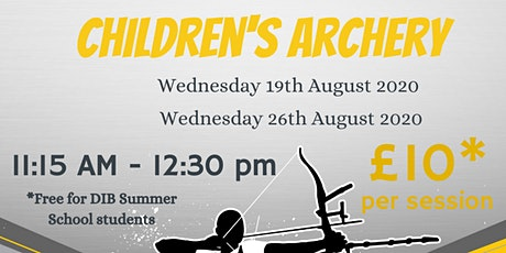DIB Children's Archery 26/08/20 tickets