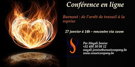 Conférence : Burnout : de l'arrêt de travail à la reprise billets