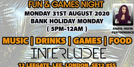 URBAN TOUCH FUN & GAME BANK HOLIDAY MONDAY tickets
