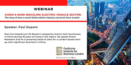 Webinar: China's mind-boggling Electric Vehicle sector tickets