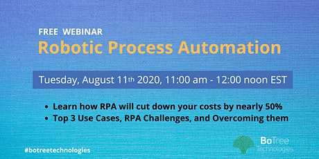 Webinar on RPA for businesses tickets